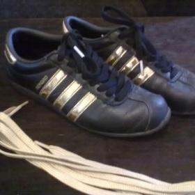 Černozlaté tenisky Adidas Rekord - Bazar Omlazení.cz 14a52d9ae10