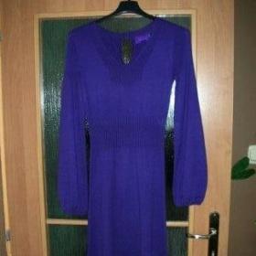 Fialové úpletové šaty Cimarron - foto č. 1