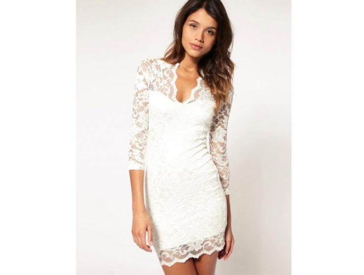 Bílé krajkové šaty - Bazar Omlazení.cz 241dc72aa1