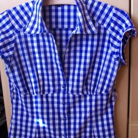 Modrá kostkovaná košile Stradivarius - foto č. 1