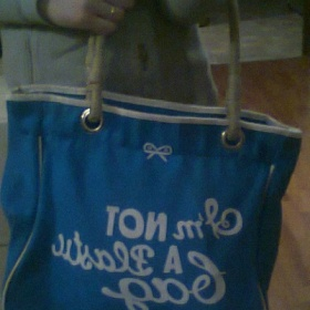 Kabelka/taška Anya Hindmarch - kolekce Shopping bags Modrá - foto č. 1