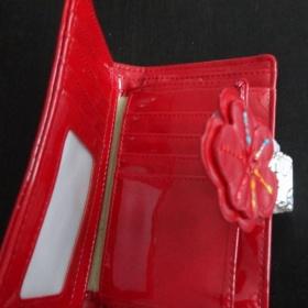 Dámská bílo - červená peněženka - foto č. 1