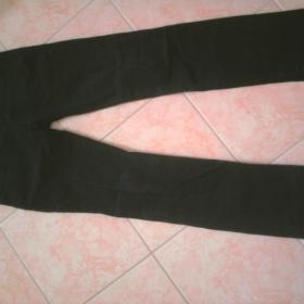 Černé rovné riflové kalhoty - foto č. 1