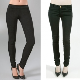 """Černé """"jeggins"""" - černé kalhoty - foto č. 1"""