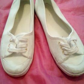 Bílé baleríny H&M - foto č. 1