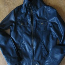 Ko�en� tmav� modr� bunda. Kik - foto �. 1