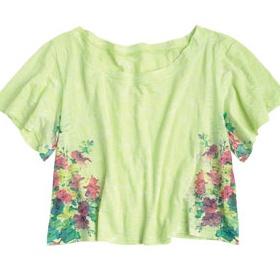 Široká, kytičkovaná či vzorovaná krátká trička - foto č. 1