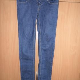 Modré slim džíny H&M - foto č. 1