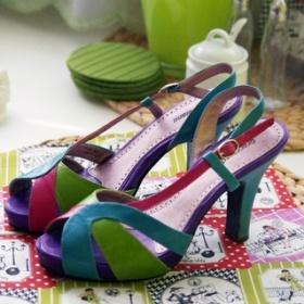 Barevné sandálky Graceland - foto č. 1