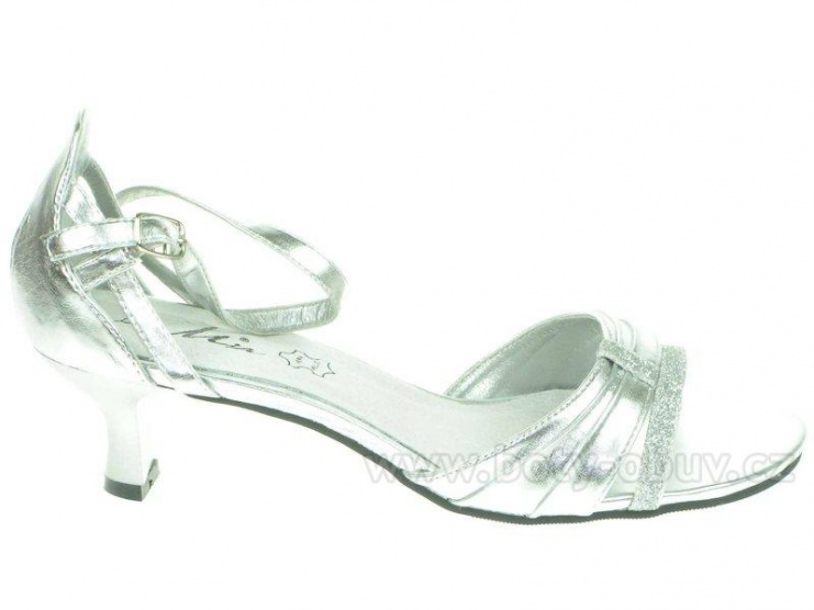 Stříbrné plesové boty - Bazar Omlazení.cz 1fb3abd39e