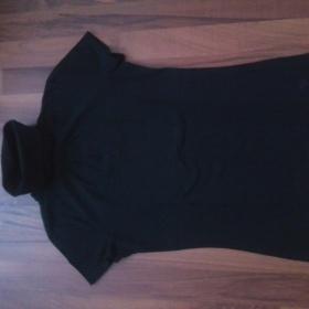 Černé tričko s krátkým rukávem a roláčkem Esprit - foto č. 1