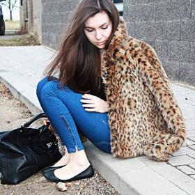 Leopardí kožíšek/kabátek - foto č. 1