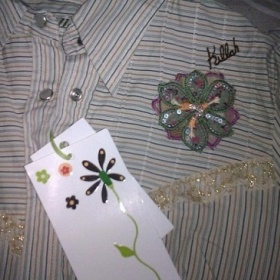 Bežová košela blúzka s kvetom Miss sixty Killah - foto č. 1