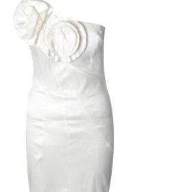 Bílé šaty na jedno rameno, XS/S - foto č. 1