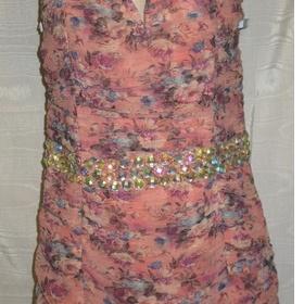 Korzetové  šaty z Asosu broskvové barvy - foto č. 1