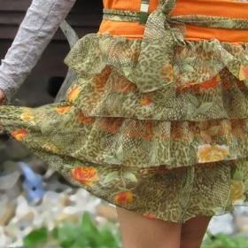 Květovaná volánková sukně - foto č. 1