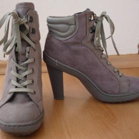 Šedé boty na podpatku  Mixer - foto č. 1