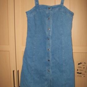 Modré riflové šaty - foto č. 1