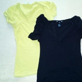 Žluté tričko a černé tričko C&A H&M - foto č. 1