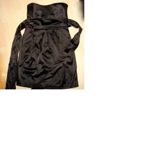Černé šaty bez ramínek Amisu - foto č. 1