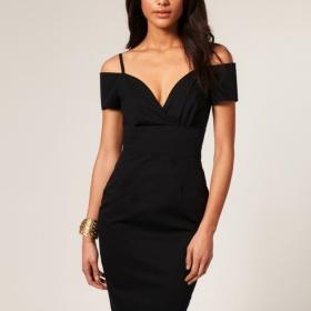 Černé pouzdrové šaty Asos - foto č. 1