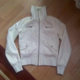 Bílá koženková bunda - foto č. 1