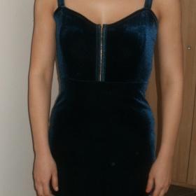 Tmavě modré  šaty z H&M - foto č. 1