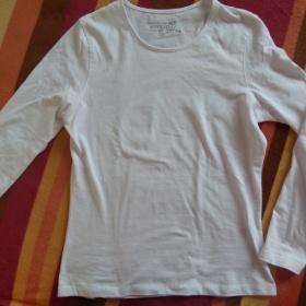 Bílé tričko s dl. rukávem - foto č. 1