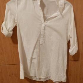 Bílá košile z H&M s kr. rukávem - foto č. 1