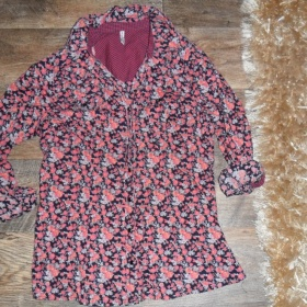 Košile růžové farby s podtiskem růží Fishbone - foto č. 1