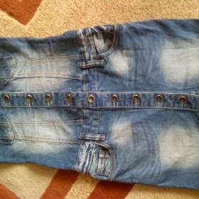 Riflové mini šaty - foto č. 1