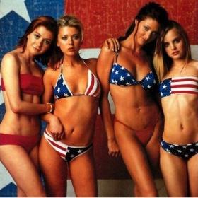 Plavky s americkou vlajkou - foto č. 1