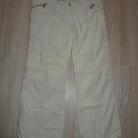 Letní plátěné krémové kalhoty Kenvelo - foto č. 1