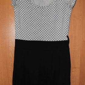 Puntíkované černé šaty Kenvelo - foto č. 1