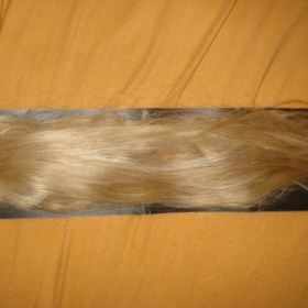 Clip in blond vlasy 70 cm - foto č. 1