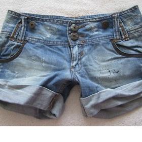 Modré džínsové mini kraťásky Bershka - foto č. 1