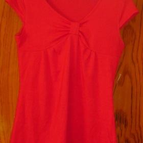 Červené tričko krátký rukáv - foto č. 1