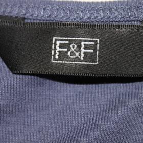 Modro - šedé tričko F&F - foto č. 1