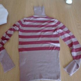 Růžový pruhovaný svetr Orsay - foto č. 1