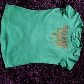 Zelené tričko Pepe Jeans - foto č. 1