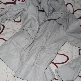 Krémová koženková bunda - foto č. 1