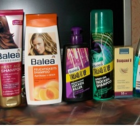 Sada pečující kosmetiky na suché, lámavé vlasy Balea, Imperity, Avon - foto č. 1