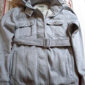 Šedý mikino-kabátek