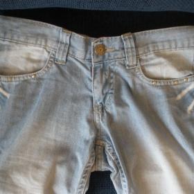 Světlé džíny vel 34/36 - foto č. 1