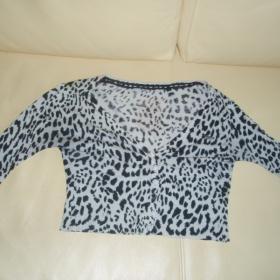 GUESS - Leopardí tričko s dlouhým rukávem - foto č. 1