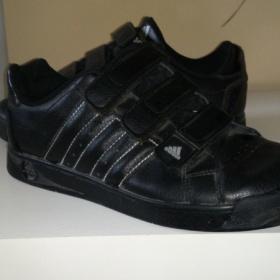Černé kožené tenisky Adidas - foto č. 1