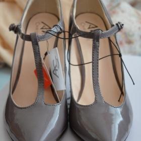 Fialovo šedé lodičky - Ann Christine - foto č. 1