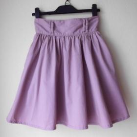 Starorůžová sukně s vyšším pasem H&M - foto č. 1