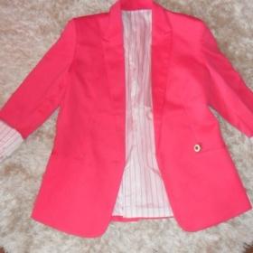 Růžové sako Zara - foto č. 1