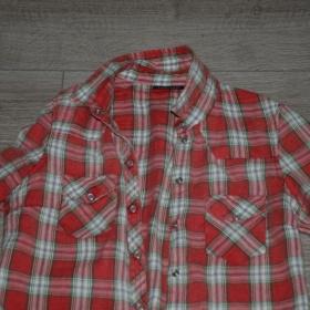 Kárová košile Topshop červená - foto č. 1